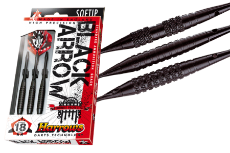 Darts szett Soft Harrows BLACK ARROW